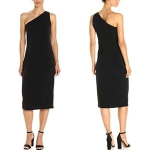 NWT CALVIN KLEIN Stretch One Shoulder Fitted Dress